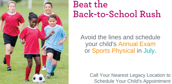 Back to School Annual Exam Sports Physical
