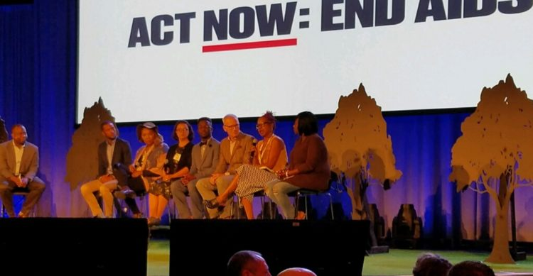 Venita Ray, second from the right, with members of ACT NOW: END AIDS Coalition at USCA